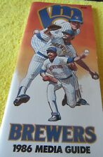 1986 MILWAUKEE BREWERS MEDIA GUIDE SALUTE TO SULLY-- GEORGE BAMBERGER