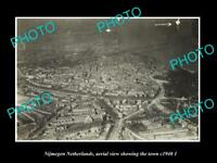 OLD LARGE HISTORIC PHOTO NIJMEGEN NETHERLANDS HOLLAND TOWN AERIAL VIEW c1940 2