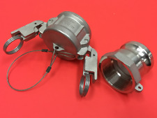 2 Fitting With2 Npt Cam Lock Fittings Stainless Steel