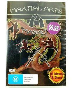 Martial Arts Mayhem 10 x Movie Pack DVDs Rated M Multi Region Bruce Lee