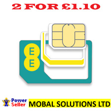 EE Pay as You Go Phone SIM Card 2gb Data 100 Minutes and Unlimited Texts.