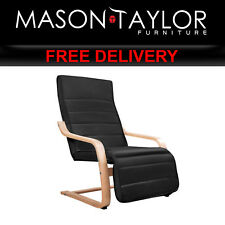 Mason Taylor Adjustable Black Bentwood Lounge Cushion ArmChair ARMCHAIR-02-BK