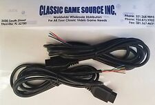 TWO 6FT 9 Pin Replacement cable cord wire to repair Sega Genesis controller