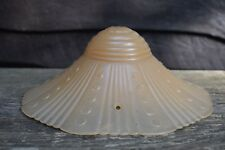 Vintage Amber Color Ruffled Ceiling Shade