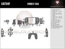 Fits Ford F150 2DR 1997-1998 Large Wood Dash Trim Kit