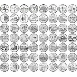 USA - 50 State Quarters Collection 1999 - 2008 - US America Coins
