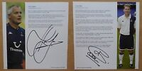 2005-06 Tottenham Hotspur Signed Legend Profile Pages - Individually Priced