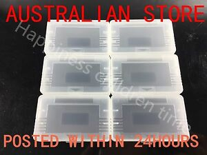 Clear Protective Game Storage Case Cover X6 For Nintendo GameBoy GBA GBM GBASP