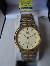 New Men's Q&Q Citizen Stainless Steel Silver and Gold Bracelet Watches