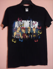 ALL TIME LOW BLACK SUP BRA BAND T SHIRT SIZE S SMALL VGC PUNK POP ROCK