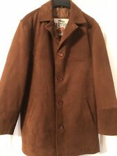"Men's Brown Leather Jacke/Coat 38"" Mountain Guide Co John 'B' Classic Line"