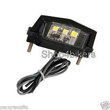 LED number plate lamp light car motorhome caravan trailer van 12v
