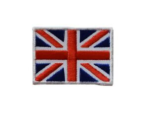 """#5140 British Union Flag UK Flag Embroidery Iron On Patch-Small 1 3/4"""""""