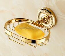 Wall Mounted Gold Color Bathroom Soap Dish Holder Soap Basket lba607