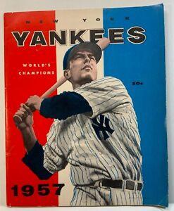1957 NEW YORK YANKEES YEARBOOK 1957 WORLD'S CHAMPIONS JAY PUBLISHING