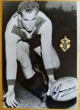 1961 JOHN JAMES CARLTON HAND SIGNED B&W PHOTO & FREE REPLICA BROWNLOW MEDAL