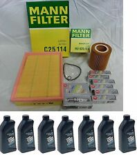 BMW E46 E39 OEM Tune-up Kit NGK Spark Plugs Mann Oil+Air Filters + 7-qts BMW Oil