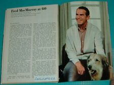 1968 Tv Guide Article~My Three Sons Fred Macmurray & Tramp Briard Dog
