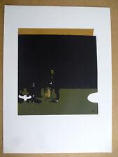 HERMANN TEUBER Farb Lithographie abstrakte Graphik 1960 er monogrammiert