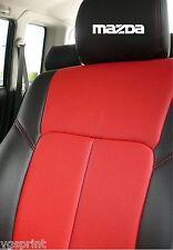 6 x Mazda Autositz Kopfstütze Aufkleber Grafik Logo Farbauswahl