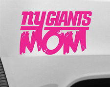 Giants Mom NY Pink Vinyl Car Truck Decal Window Sticker Football
