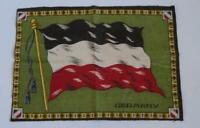 Antico WW1 Tedesco National & Mercante Bandiera Patriottico Panno 26cm x 18.5cm