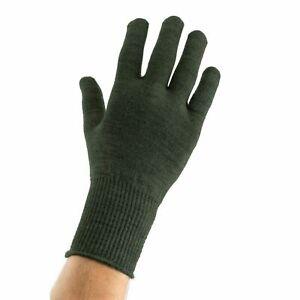 EDZ Merino Wool Thermal Inner Liner Motorcycle Gloves Green Winter Bike Under