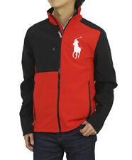 Polo Ralph Lauren Red Black Big Pony Polo 67 Softshell Windbreaker Jacket New