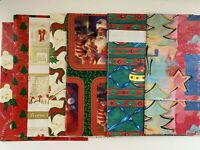 Set of 7 Piece Vintage Christmas Wrapping Paper Sheets Gift 29 X 29
