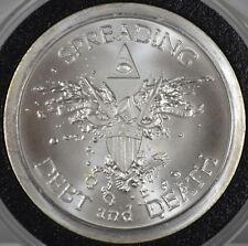 #7761 - SBSS 2013 - Spreading Debt and Death - 1oz 999 Silver Round