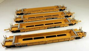 Walthers #932-3903 Double Stack 4 Car Well Set TTX #25000 1/87 HO Scale