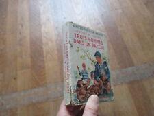 BIBLIOTHEQUE VERTE + JAQUETTE JEROME K JEROME trois hommes dans un bateau 1954 3