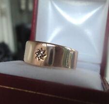 Vintage 9ct Rose Gold & Diamond Ring h/m 1917 Birmingham - size T