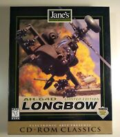 AH-64D Longbow: Limited Edition (PC, 1997) BIG BOX COMPLETE MINT SHAPE