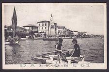 RIMINI CITTÀ 180 VISERBA - BARCHE SPIAGGIA Cartolina viaggiata 1922