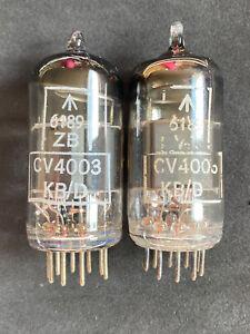 RARE PAIR OF MULLARD CV4003 6189 ECC82 BOX PLATES