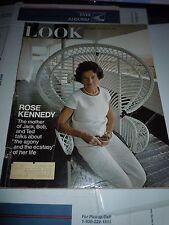 Vintage LOOK Magazine November 26, 1968 - Rose Kennedy JFK's Mom - NFL Football