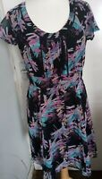 PEPPERBERRY (CURVY) DRESS SIZE 10, MULTICOLOURED, LINED, SUMMER,