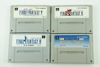 Final Fantasy 4 5 6 USA SNES SQUARE Nintendo Super Famicom From Japan