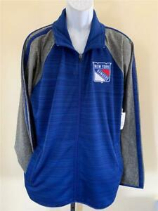 New New York Rangers Mens Size L Large Blue Full Zip G-III Jacket