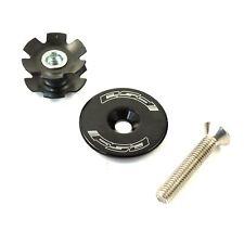 "FSA Bicycle Headset Star Nut & Top Cap Set // 1-1/8"" // Black Orbit MX"