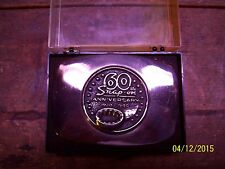 Vintage Snap-On Solid Siver Bronze 60Th Anniversary Limited Belt Buckle W/Case