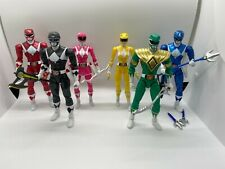 Mighty Morphin Legacy Green, Red, Blue, Black, Yellow, & Pink Power Rangers Lot