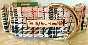 "1.5"" Classic Caramel Handmade Martingale Dog Collar Greyhound, Whippet, Lurcher"