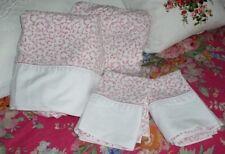 Vintage CROSCILL QUEEN Sheet Set ~Savoy~ RARE Pink Color ~