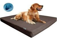 """Extra Large Orthopedic Waterproof Memory Foam Pet Bed for Large Dog 48X30"""" Crate"""