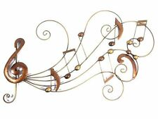 Contemporary Metal Wall Art - Bronze Musical Notes  Sweep Scroll Decor