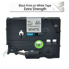 TZ TZe S231 Black on White Extra Strength Adhesive Lable Tape for Brother Ptouch