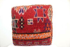 Floor Pillow Boho Moroccan Wool Pouf Floor Cushion Kilim Handmade rug Pouf
