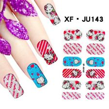 Polish Nail Art FULL Stickers Decals Foils Adhesive Wraps with Nail file 143#